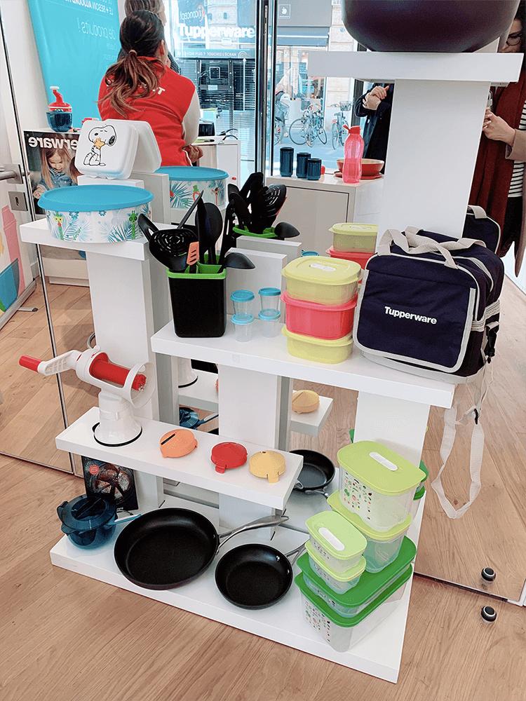 pop-up store Tupperware