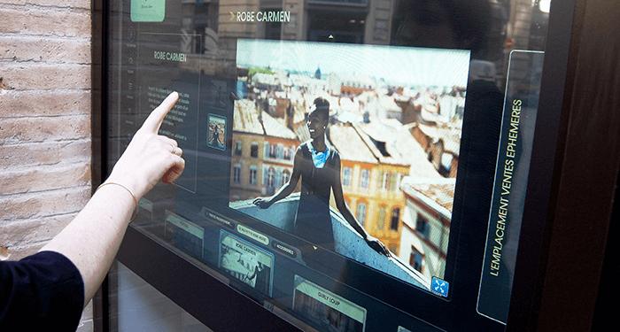 écran tactile boutique éphémère
