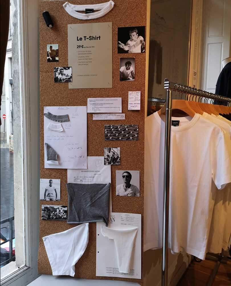 Le tee-shirt revu par Asphalte en mode Pop-up Store