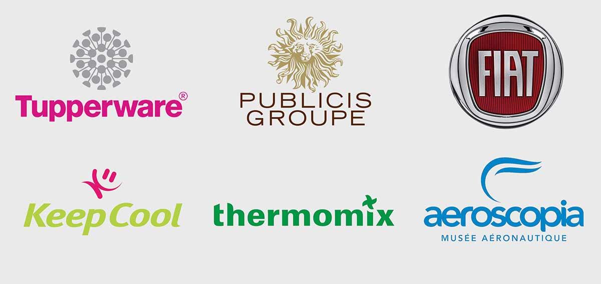 Logos des clients de l'Emplacement